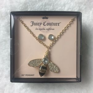 Juicy Couture Necklace and Earring Set NEW